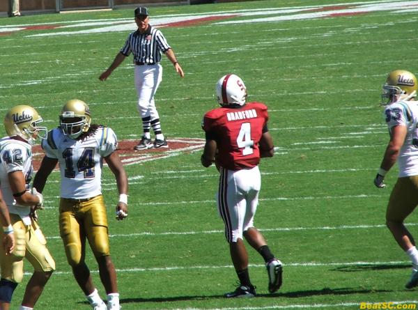 Trojan-Killer Mark Bradford is a Vince Young-like GOD right now.