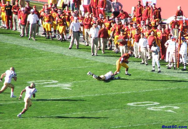 The Bruins made some good open field tackles, but sc saw too much open field.