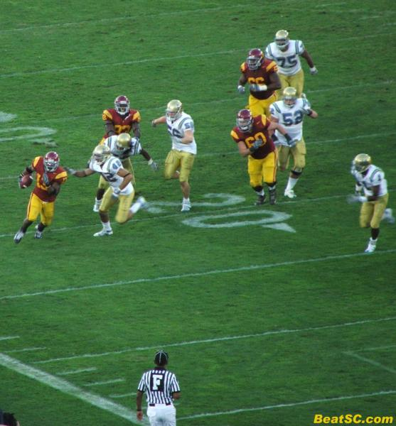 Seemed like at least half of sc's rush attempts found some room to run, which explains why Safety Dennis Keyes had 18 tackles.