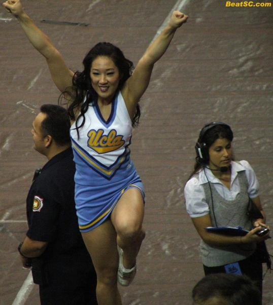 UCLA's Stage Managers are attractive enough to be other schools' Cheerleaders, and for UCLA's Cheerleaders, the sky's the limit
