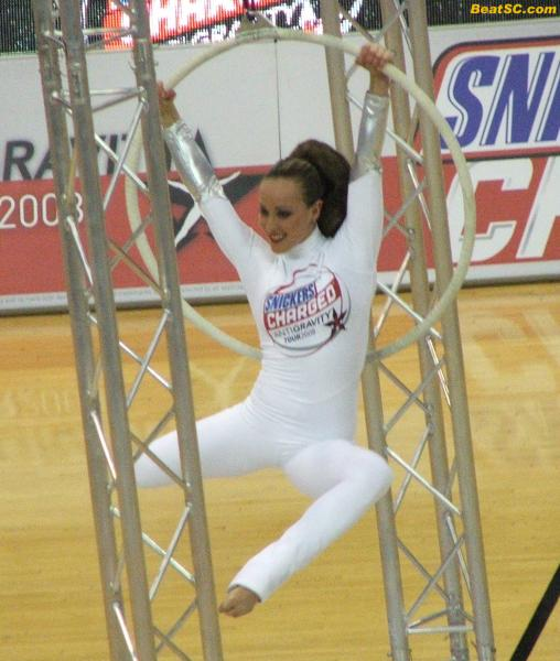 The Snickers Anti-Gravity Girl will be performing at the Oscars tonight