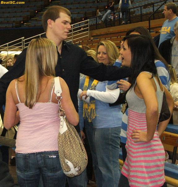 Meanwhile, Mike Roll, despite being injured, still keeps winning over groupies.  Back-to-Back Final Fours will do that.