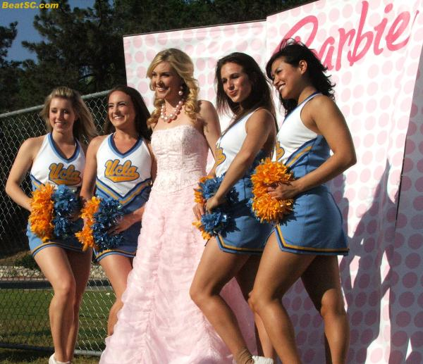 """Real-life Barbie"" would probably be more comfortable with the USC Song Girls."