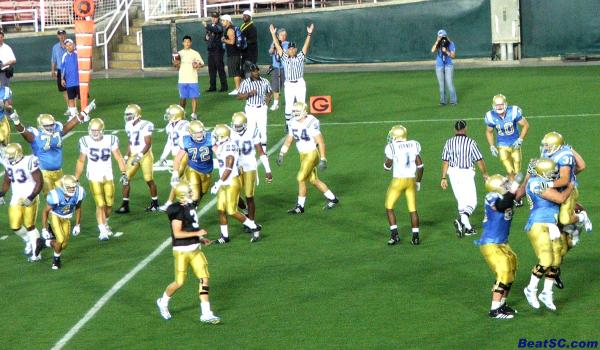 Theriot!  Touchdown Bruins!  In April!  In the Rose Bowl!  (Hope they can get one on Labor Day)