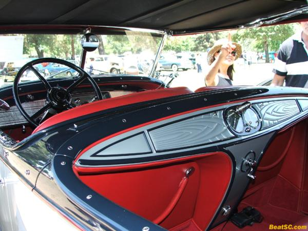 … and the interior of the same '41 Caddy — Check out the crank and gauges in the BACK SEAT (for Backseat Drivers?)