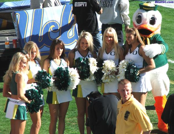 The Duck Cheerleaders, like the Lakers, should be fairly proud of their 2nd Place finishes.