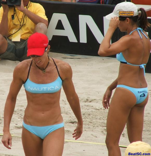 """""""Rachel"""" is Rachel Wacholder, who teamed up with Youngs to WIN this Huntington Beach Open."""