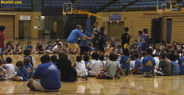 Speaking of GREAT COACHES:  How about the Hands-On approach of BEN HOWLAND at his Basketball Camp yesterday.