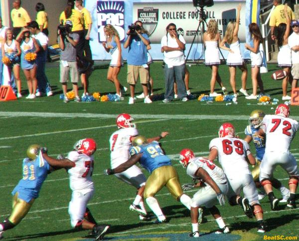 The Bruin pressure was usually a step too late (Maybe due to Holding?)