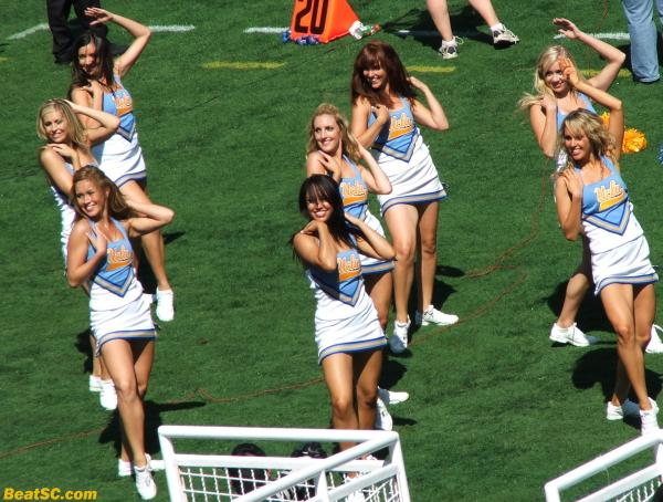 The highlight of the day?  When the Dance Team came around to our section.