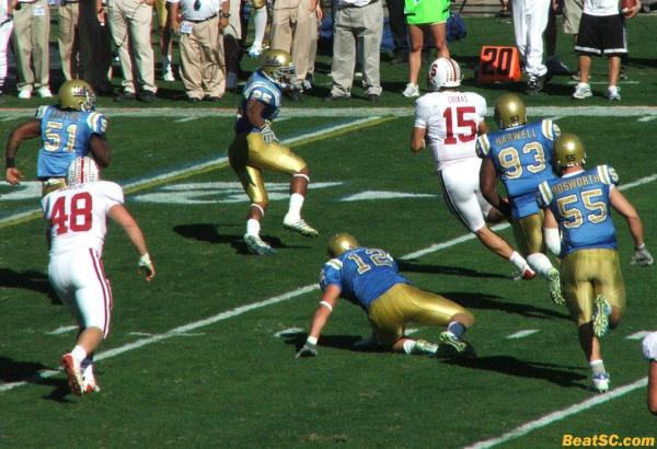 Even though back-up QB Alex Loukas ran it almost every time he was inserted, the Bruins still couldn't contain him.
