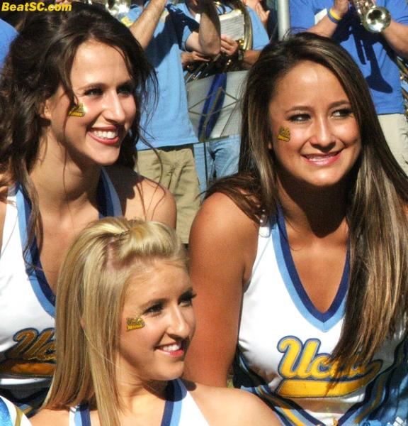 Don't rub your eyes — These ARE girls from the UCLA Spirit Squad, it's just that they are (unintentionally and unfairly but dramatically) UNDER-represented on this site, historically.