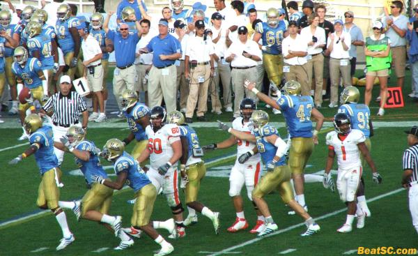 Moore's fumble recovery was about the last thing the Bruins had to celebrate.