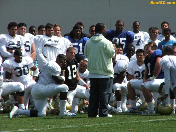 If the 2009 team COLLECTIVELY has a heart the size of Maurice Jones-Drew's, they'll be just fine.  [That's MJ-D giving the team a post-practice pep talk]