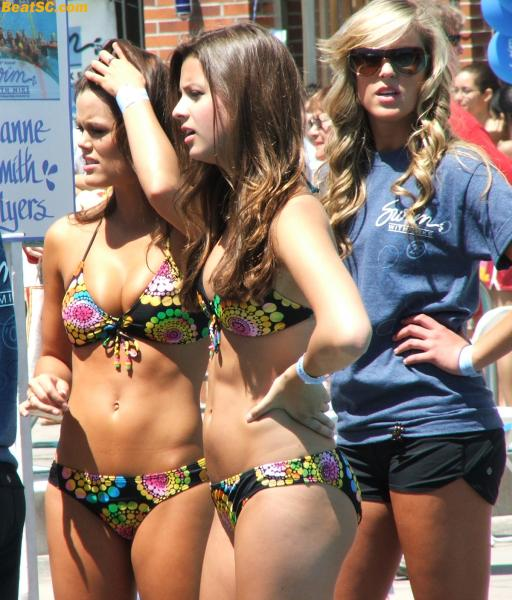 I'm sorry, but they look great — How can she blame all those trojan fans for taking photos?
