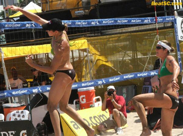 Spiking interest in Beach Volleyball.