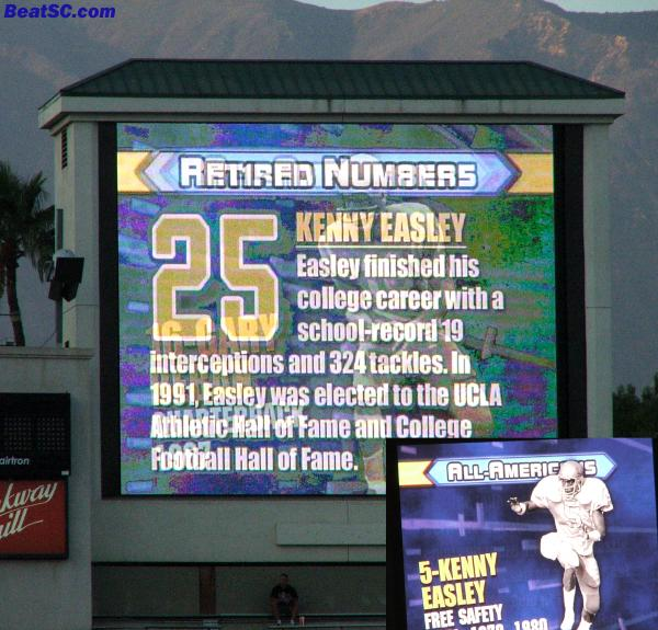 WTF is wrong with these people?  Easley was #5, NOT #25.  C'mon UCLA, that's a trojan-like choke, and it's been like this for two years.