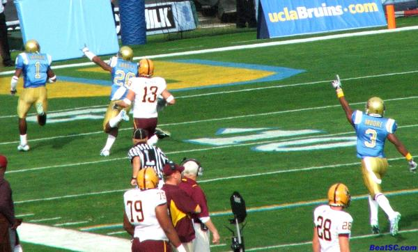 And this is how Alterraun Verner welcomes the new Starting QB to the Rose Bowl… with a Pick 6!
