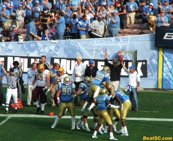 Brian Price wasn't the only Price who went airborne on Saturday — Sheldon Price did also, to celebrate Ayres' TD.