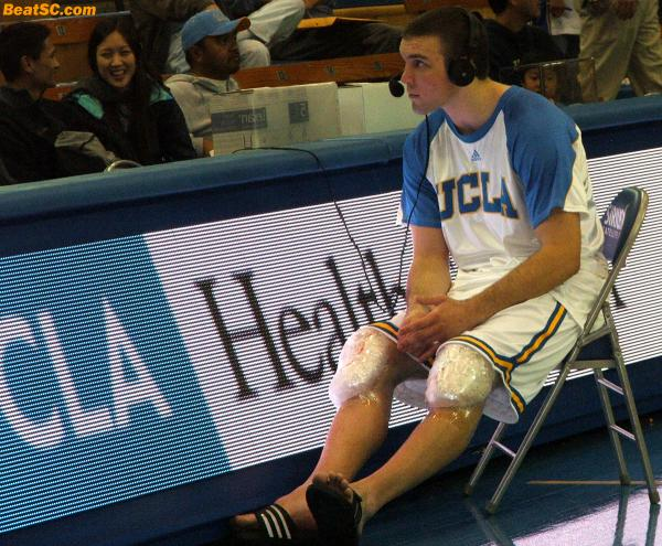 """""""Ice knees.  Ice knees.  We all sneeze at ice knees.""""  However, the pain is nothing to sneeze at, and neither is the pain that would be felt by UCLA if Nelson got hurt."""