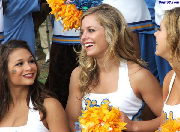 It should be noted that there is one POSSIBLE reason why the Dance Team and many students were not there:  UCLA is on Winter Break.