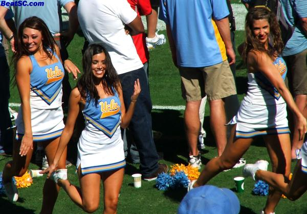 "Whenever UCLA plays Oregon State, the Dance Team is reminded of how fortunate they are to be ""BRUINS."""