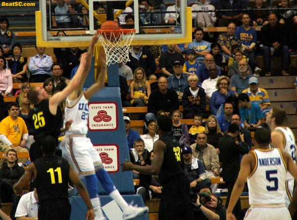 This Tyler Honeycutt dunk was an alley-oop off a beautiful, quick-release strike from Jerime Anderson.