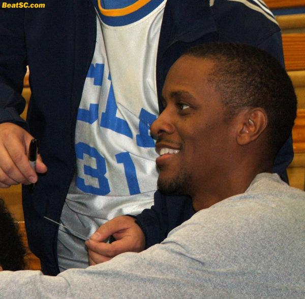 T-Love in the house!!  Tyus Edney makes a triumphant return to Pauley Pavilion.