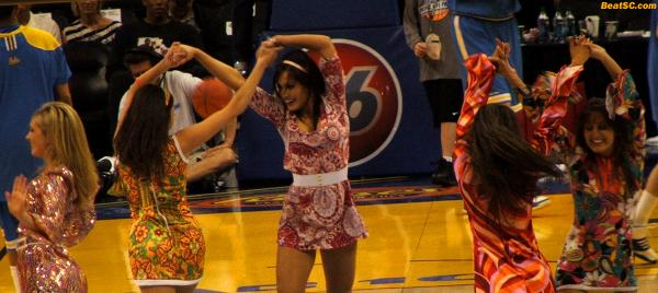 This is not a Re-Hashback — These are NEW shots, as the Dance Team once again donned their 70's Flashback attire for one routine.  BTW… I LOVE THE 70's, and you can see why.