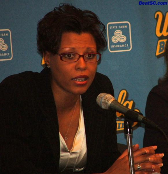 I hope Coach Caldwell stays at UCLA for a long, long time.  I see banners in her future — I want them to hang in Pauley.