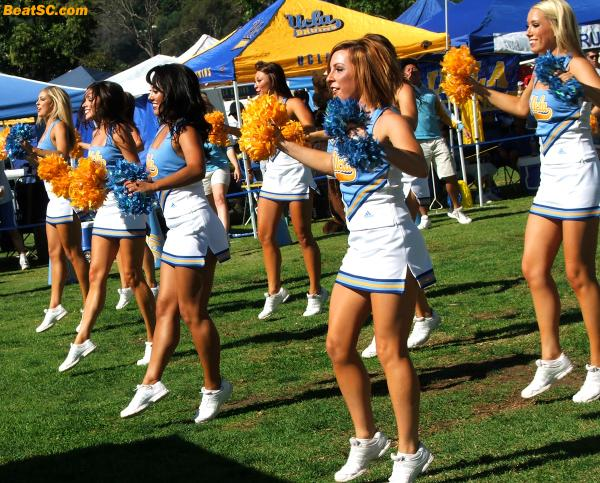 "What would you ask a UCLA Cheerleader if you had a chance?  (Besides ""out,"" that is.)"