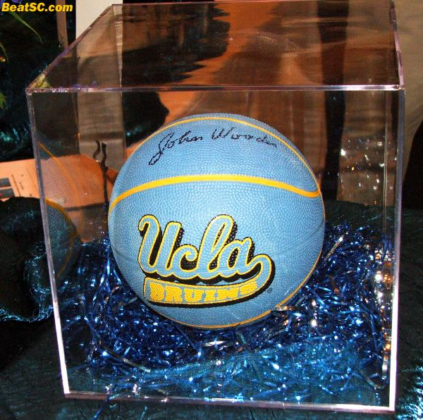 John Wooden signed a ball for the cause — The smart ones KNOW the importance of Spirit.