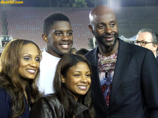 Combo Rice:  Hall of Famer Jerry Rice and Jerry Rice, jr.