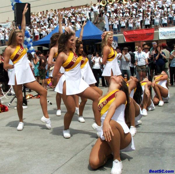 """Last one for today — Hope you enjoyed the """"truce,"""" and all the up n' coming usc song girls.  Starting tomorrow, it will be back to Bruins."""