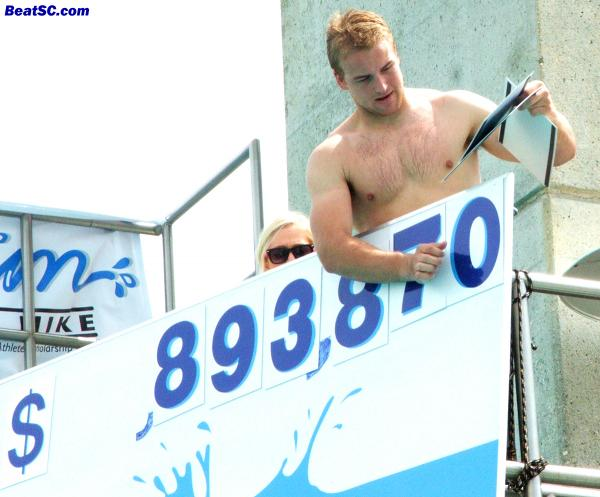 They are trying to turn QB Matt Barkley into a Rock Star — That's him on the tote board as it rolls over $900K.