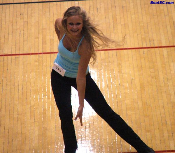 This is Kathryn, a brand new Dance Team Member, doing the David Lee Roth Panama move.