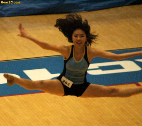 Sir Isaac Newton would hate this girl… because she defied gravity.