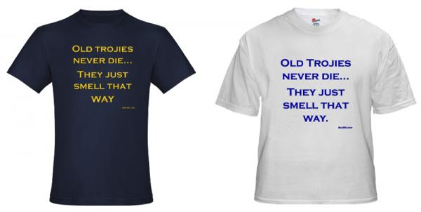 Custom-made t-shirts, by request.