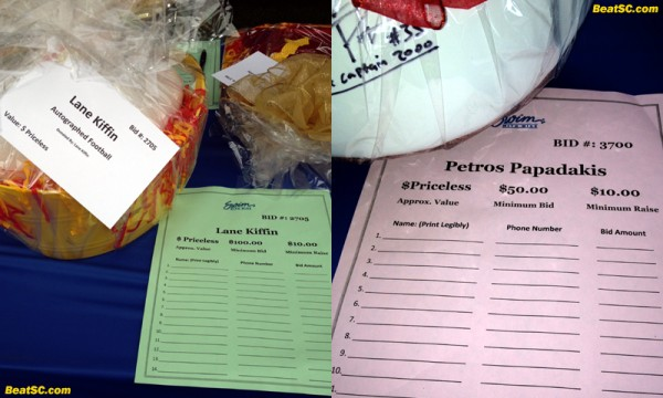 Not ALL items at the silent auction got bids... Sorry Lane and Petros!