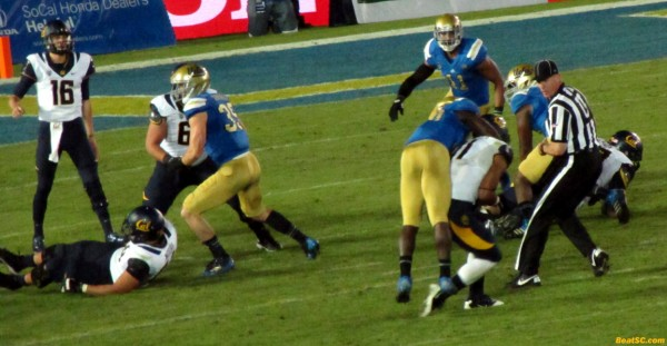 Myles Jack's tight coverage couldn't stop this completion, but at least there were no Y.A.C.