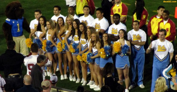 One more pregame pose for the Bruin Cheer Sqaud