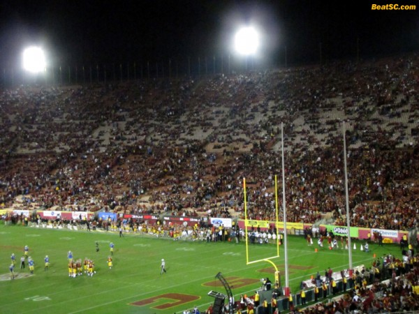 With a few minutes still left in the game, tens of thousands of trojan fans had already given up, and left the building